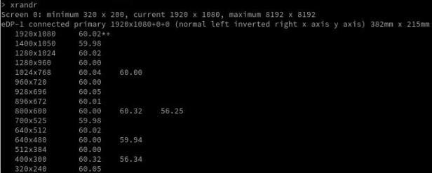 Xrandr output