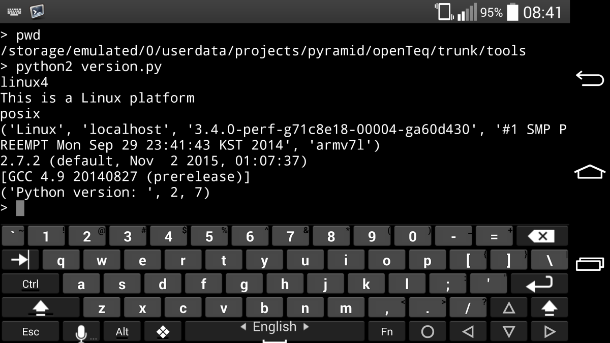 Android QPython in Command Line