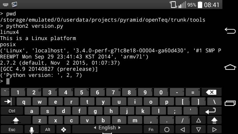 Android QPython in Command Line – openTeq